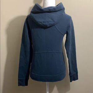 lululemon athletica Tops - Lululemon Warm For Winter Hoodie Jacket Mach Blue